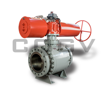 Fixed pneumatic ball valve