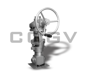 Forged steel high pressure shut-off valve